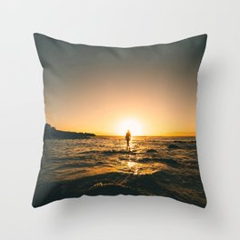 Road Trips and Skinny Dips 2 Throw Pillow