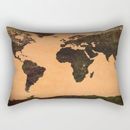 Abstract Earth Science Map Rectangular Pillow