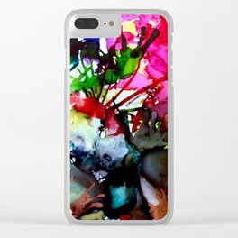 Sea Urchins & Corals (Abstract) Clear iPhone Case