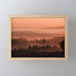My road, my way. Brown. Framed Mini Art Print