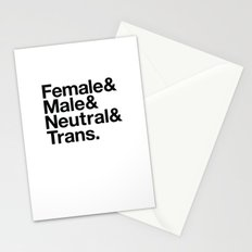 All Equal Genders Stationery Cards