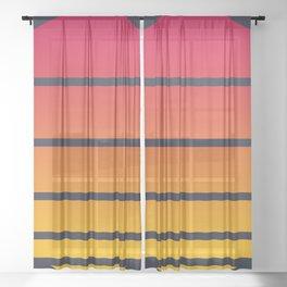 Retro Sunset Circle Sheer Curtain