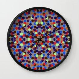 Red&Blue Confetti Wall Clock