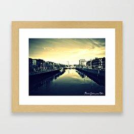Dublin's Fair  City Framed Art Print
