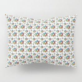 Star of David Colored Pattern Pillow Sham