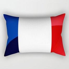 France Flag Circle Rectangular Pillow