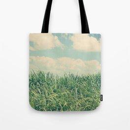 sugar cane field Tote Bag
