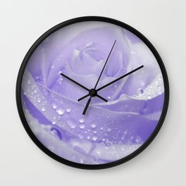 Rose with Drops 085 Wall Clock