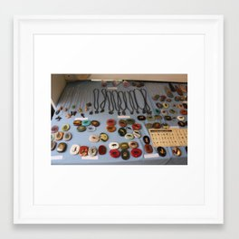 Stones and Jewelry at a Shop Downtown Framed Art Print