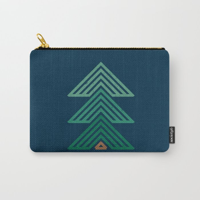 Geometric Mountain Cabin Carry-All Pouch