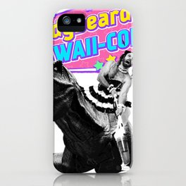 Ladybeard riding a T-Rex iPhone Case