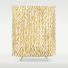 Herringbone pattern - yellow Shower Curtain