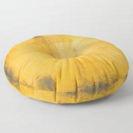 Yellow Gray #17 Floor Pillow
