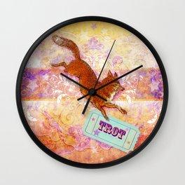 Fox Trot Wall Clock