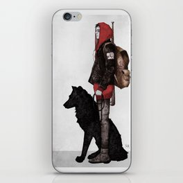 The boy and the wolf iPhone Skin