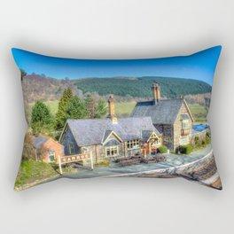 Carrog Railway Station Rectangular Pillow