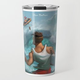 jon bellion over whelming album Travel Mug