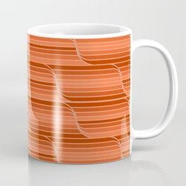 Geo Stripes - Rust Orange Coffee Mug