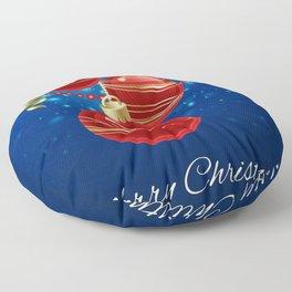 Holiday Christmas Blue Decoration Merry Christmas Floor Pillow