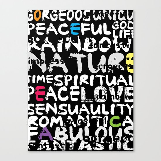 love words Canvas Print