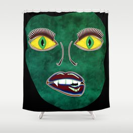 Scary Face (Mask) Shower Curtain