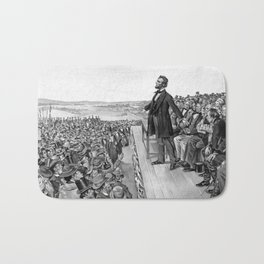 President Lincoln Delivering The Gettysburg Address Bath Mat