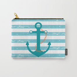 AFE Nautical Teal Ship Anchor Carry-All Pouch