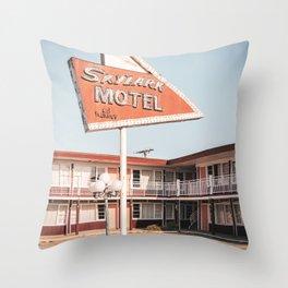 Skylark Motel Throw Pillow