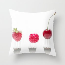 3 fruits, 3 forks Throw Pillow