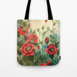 SK's Field of Poppies Tote Bag
