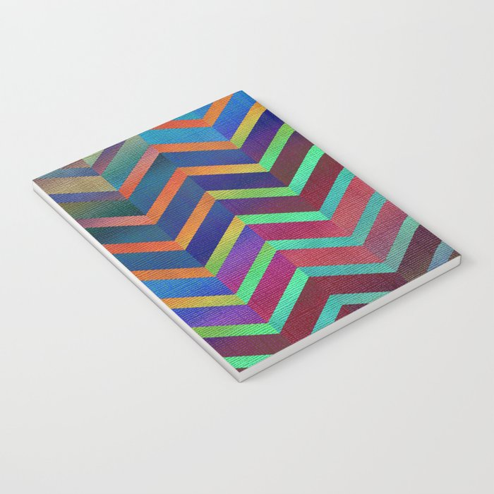 Color Transition Chevron Notebook