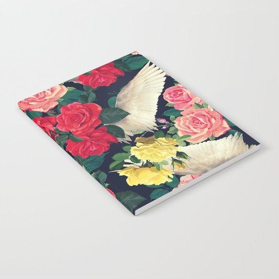 roses wings, tropical  Notebook