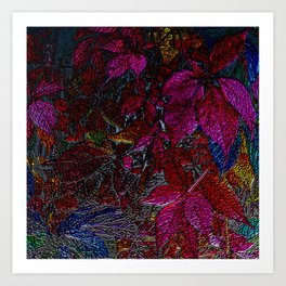 Strange Leaves Art Print