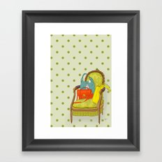 the chair from a boutique Framed Art Print