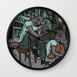 Them City Wolves Wall Clock