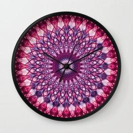 Pink and violet mandala Wall Clock