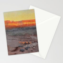 Dowa Yalanne Mesa (Thunder Mountain) Zuni Pueblo, New Mexico by William R. Leigh Stationery Cards