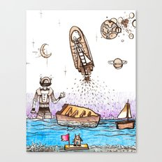 Space Boats Canvas Print