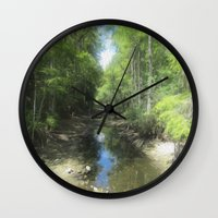 brand new Wall Clocks featuring A Brand New Journey by Gwendalyn Abrams