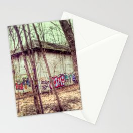 graffiti in the woods Stationery Cards