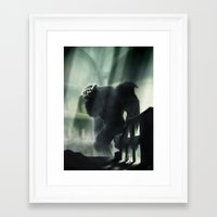 shadow of the colossus Framed Art Prints featuring Barba the Colossus by onez