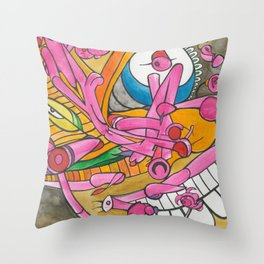 Polluted Head Throw Pillow