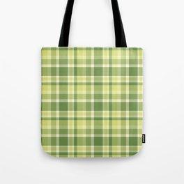 Summer Plaid 13 Tote Bag