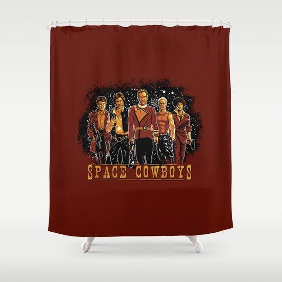 Space Cowboys Shower Curtain