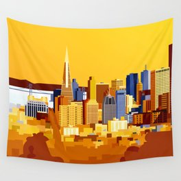 San Francisco on a sunny day Wall Tapestry