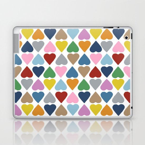 Diamond Hearts Repeat Laptop & iPad Skin