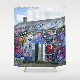 The Berlin Wall Shower Curtain