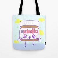 nutella Tote Bags featuring Nutella by grecia colunga