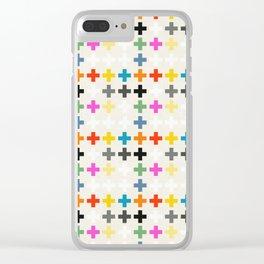 Cross Pattern Clear iPhone Case