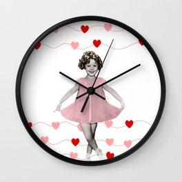 Shirley Temple Hearts Wall Clock